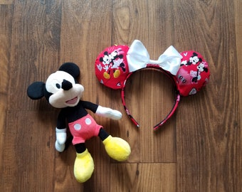Mickey and Minnie puffy mouse ears