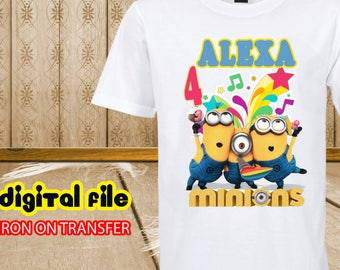 Iron On Transfer Despicable Me Birthday Shirt, Minions Iron On Transfer, Minions Birthday Shirt Iron On Transfer, Despicable Me Personalize
