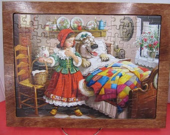 Little Red Riding Hood Wood Framed Puzzle