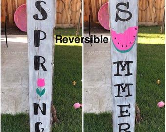 Reversible Wood sign