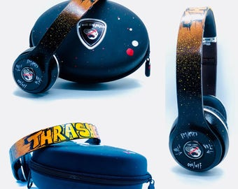 Thrasher...MSN Audio Hand Painted Wireless/Bluetooth Headphones