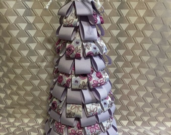 Spring decor, summer decor, entryway decor, living room decor, ribbon tree, gift for her