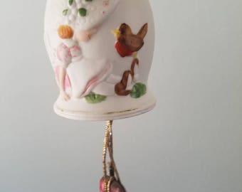 Vintage Jasco handpainted porcelain bell