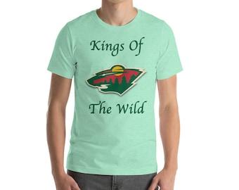 Minnesota Wild Hockey Kings Of The Wild Short-Sleeve Mens T-Shirt