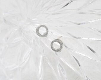 cubic circle earring