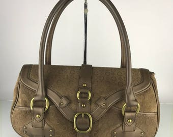 Authentic Celine Suede Leather Shoulder Bag