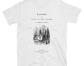Walden Thoreau original book cover drawing Short-Sleeve Unisex T-Shirt