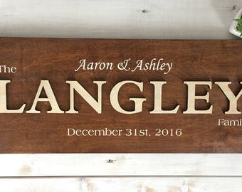 Custom - Langley Family sign