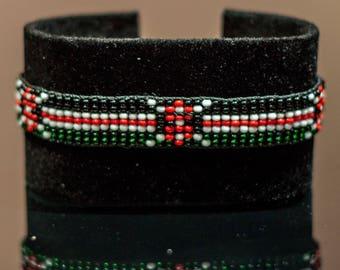 Kenya Flag Bracelet | Maasai Beaded Bracelets | Flag of Kenya | Kenyan Flag Wrist Band