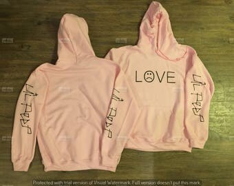 Pink Hoodie Lil Peep LOVE Hell Boy Pink Hoodie