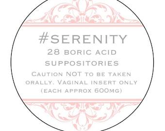 Serenity boric acid suppositories
