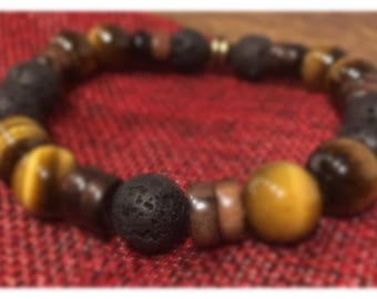 Tiger's eye stone bracelet
