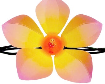 Decorative die-cut flowers for your string lights