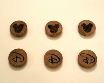 Disney Woodburnt Magnets