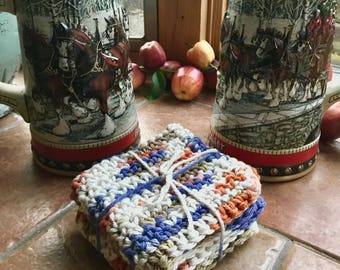 Aztec Handmade Cotton Crochet Washcloths / Face Cloth / Bath