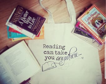 Reading Can Take You Anywhere Tote Bag!