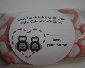Owl Valentine Sticker
