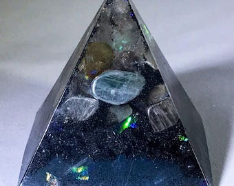 Astral Forcefield Glow in the Dark Orgone Pyramid