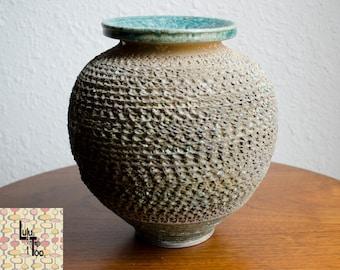 Vintage MCM Textured Vase