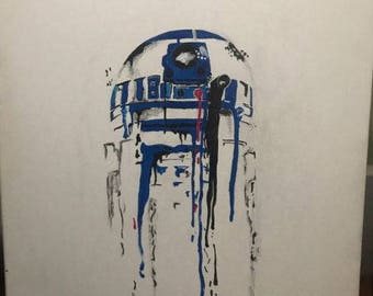 R2D2 Star Wars Print of painting