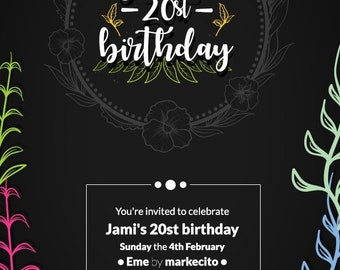 Flowers Invitation / Birthday Invited