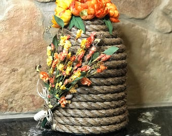 Small bee skep decoration