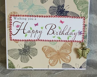 Butterfly Charm Birthday Card
