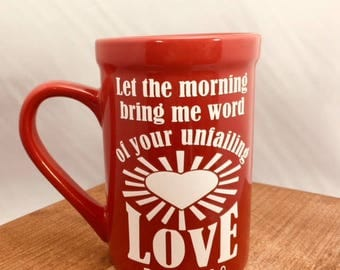 16 oz Scripture Verse  Red Ceramic Mug