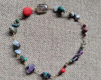 Mixed Mineral Stones Beaded Choker