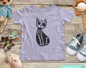 Cat skeleton Shirt - Baby bodysuit Toddler youth Shirt cute birthday baby shower gift