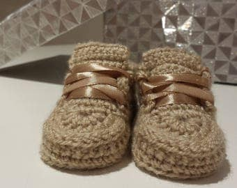 Unisex Hand Knitted/Crochet Baby Booties