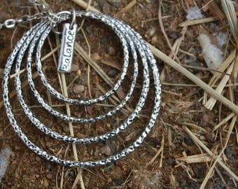 "the ""Balance"" three chain Necklace"