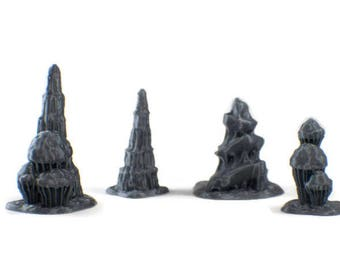 Dungeon Terrain 28mm Scale Stalagmite Cave Terrain Set RPG Terrain Dungeons and Dragons