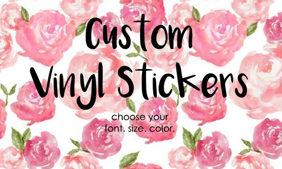 Personalized Vinyl Decal Laptop Stickers Vinyl Stickers Cup - Custom vinyl decals for glass