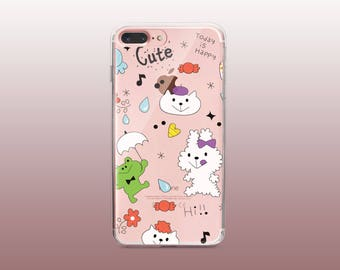 Cute Clear TPU Phone Case for iPhone 8- iPhone 8 Plus - iPhone X - iPhone 7 Plus-iPhone 7-iPhone 6-iPhone 6S-Samsung S8