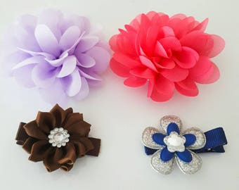 Silk flower hair clip / layered flower