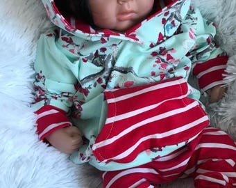 Floral Blssom Hooded Baby Outfit