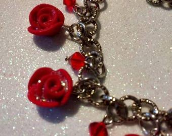Rose Fimo Bracelet