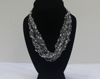 Silver Lace Necklace