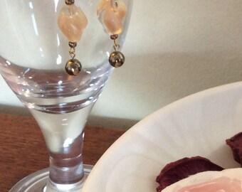 Handmade bead and wire earrings