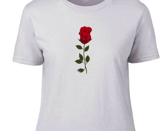 Ladies T-Shirt -Single Rose