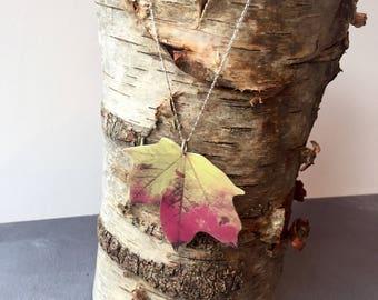 Autumn Maple Leaf Necklace