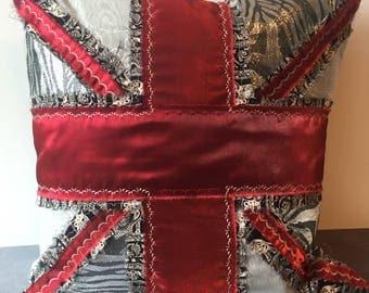 Union Jack Feather Cushion