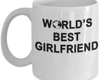 World's Best Girlfriend Coffee Mug - Valentines Gift for Girlfriend