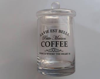 French Style Coffee Jar