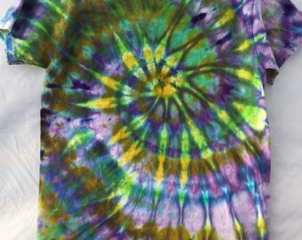 Ice Dyed Spiral T Shirt
