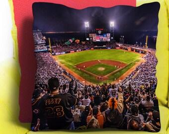 Baseball Stadium Pillow Cushion Throw Case 18x18 Home Decor Gift