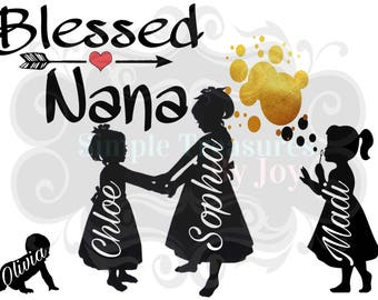Blessed Nana Custom Digital Download