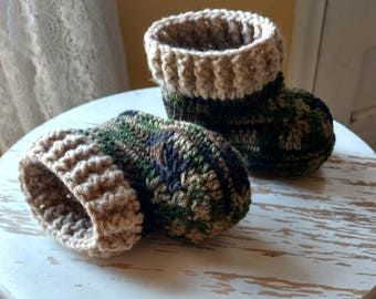 Toddler Camo booties