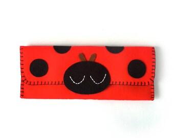 Ladybug Long Pouch